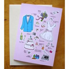 Hochzeitseinladung Zum Basteln (Anziehpuppe) Von Jana Muraitis