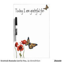 Gratitude Reminder List for Your Fridge Dry-Erase Whiteboard