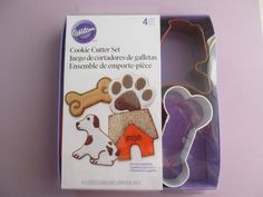Cookie Cutter Set Dog Theme 4 Different Cookie by GrayHouseSupply, $8.95