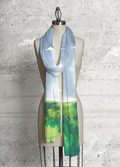 Cashmere Silk Scarf - Perennials by VIDA VIDA RVkz9rgq