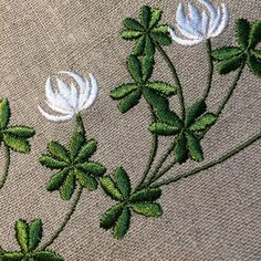 #embroidery #clover