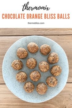 Thermomix Chocolate Orange Bliss Balls - Thermobliss