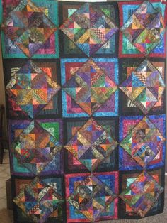 Kaleidoscope Batik Quilt by Julieannstotes on Etsy