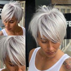 Pixie Haircut For Thick Hair, Short Choppy Hair, Blonde Pixie Cuts, Haircuts For Fine Hair, Best Short Hair, Haircuts For Women, Cute Haircuts, Stylish Short Haircuts, Short Haircut Styles