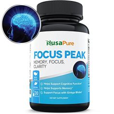 Fight Brain Fog: Support for Memory, Focus, Clarity and Concentration: All Natural Nootropic for Peak Mental Performance: Physician Formulated with Ginkgo Biloba and More: Money Back Guarantee -- Be sure to check out this awesome product.