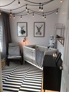 Monochromatic nursery, baby boy, ikea hack, stormtrooper