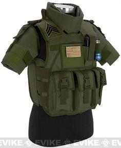 Matrix S.D.E.U. Ultra Light Weight Airsoft Tactical Vest - (OD Green), Tactical Gear/Apparel, Body Armor & Vests, OD / Green - Evike.com Airsoft Superstore