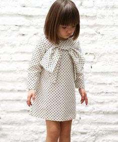 White dress with dots