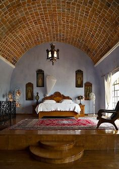 Hacienda Las Trancas - my bedroom in Mexico. | Mexican home-accents