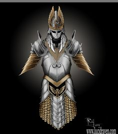 THough not realy persian the elven influence is there and the coloring me let's me show a point. it was not uncommon to mix softer armours like chain, brig, and stud with heavier plate. This is a great looking artist rendition of that.