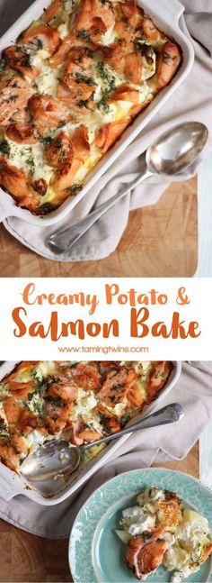 A delicious, warming, comfort food creamy salmon bake. Carb fuelled cosiness in a dish. Hygge food, ideal for autumn and winter suppers.