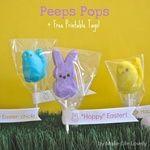 Peeps Pops + Free Printable Tags