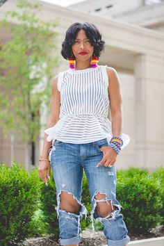 Sweenee Style, Indianapolis Fashion Blog, Black Jeans, Express Black Jeans, Summer Outfit Idea