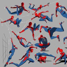 Some glorified Spider-Man gesture drawings. I havent done gestures like t - - Ideas of - Some glorified Spider-Man gesture drawings. I havent done gestures like this in a while. Insomniac did an incredible job with this game. Spiderman Poses, Spiderman Kunst, Spiderman Drawing, Character Poses, Character Drawing, Comic Character, Marvel Art, Marvel Comics, Marvel Avengers