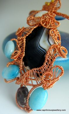 fascinating colour  http://www.flickr.com/photos/capriliciousjewellery/6970714535/in/pool-art_you_wear