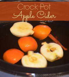 Crock Pot Apple Cider #applecider #crockpot #slowcooker