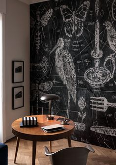 Wallpaper – Herodio Wallpaper designed by T. Guerra for the Contemporary Collection 2017 © … – Ideen Dekorieren Estilo Interior, Home Interior, Interior Design, Wallpaper 2017, Wall Wallpaper, Wallpaper Samsung, Blackboard Wall, Chalk Wall, Kitchen Blackboard