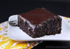 """Chocolate Zucchini Cake. Try it and the first thing you'll say is """"This is the best chocolate cake of my life."""" The second thing you'll say is, """"I think you forgot to add the two cups of zucchini."""""""
