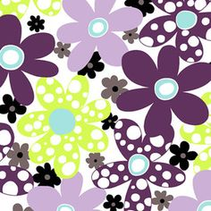 Ann Kelle - Hootie and the Blowfish, Cuddle - Dots and Daisies in Tiffany and Violet    Fun little girl print!