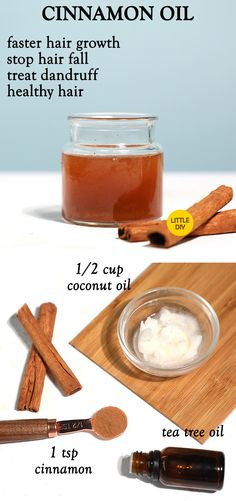 CINNAMON OIL FOR faster hair growth - LITTLE DIY - Cinnamon is very beneficial due to various properties and that is why it is used in many beauty and health treatments. Benefits of Cinnamon Oil – Cinnamon oil can help eradicate dandruff, reduce hair Coconut Oil Tea, Cinnamon Hair, Turmeric Oil, Diy Beauty Treatments, Hair Treatments, Fast Hairstyles, Elegant Hairstyles, Diy Hair Care, Healthy Hair Tips