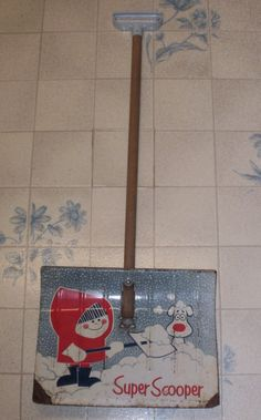 Super Scooper Snow Shovel   Vintage  1950's  by TreasuresYouNeed, $29.50