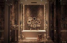 Ванная комната в роскошном восточном стиле