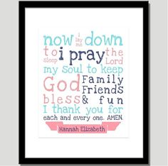Now I Lay Me Down to Sleep Print  Nursery Art by CoCoStineDesigns, $15.00