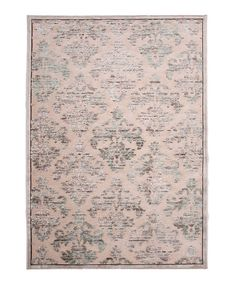 Take a look at this Light Pink & Gray Damask Rug by Jaipur Rugs on #zulily today!