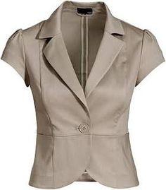 Resultado de imagen para blazer feminino  manga curta