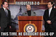 1_WILD_WOMAN: Senators Cruz, Lee, and Paul stand ready to filibuster Gun Control...3 Big Guns!!!