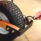 Leonard 6 cu ft Poly Tray Wheelbarrow Pneumatic or Flat-Free Tires   Gardeners Edge Free Tire, Plastic Trays, Cubic Foot, Profile Design, Wheelbarrow, Hardwood, Flat, Natural Wood, Bass