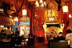 Bright Indian Restaurant Interior Design