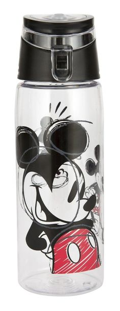 Designs Tritan Water Bottle with Flip-top Cap with Mickey Mouse Graphics Break-resistant and BPA-Free Plastic 25 oz Mickey Minnie Mouse, Disney Mickey, Mousse, Water Bottle, Sketch, Plastic, Graphics, Design, Graphic Design