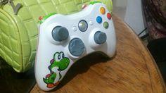 Xbox 360 Yoshi's Controller Xbox 360 Controller, Video Game Console, Yoshi, Consoles, Video Games, Mario, Ideas, Geek, Videogames