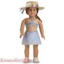 American Girl Emily Swimsuit & Hat Outfit New! Retired!