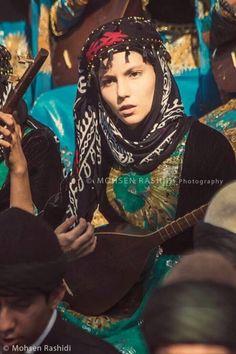Yarsani Kurds playing the music of the religion of Yarsan.