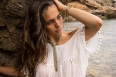 Discover our complete Llonga collection from SENSE OF IBIZA in lots of different colors and combinations. Sensual look guaranteed! Scarf Jewelry, Jewellery, High Class, Ibiza, Different Colors, Jewelry Collection, Feminine, Elegant, Hair Styles
