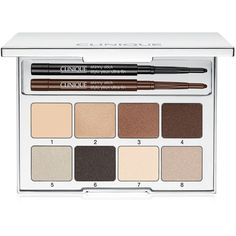 Clinique Pretty Easy Eye Palette (2,890 INR) ❤ liked on Polyvore featuring beauty products, makeup, eye makeup, eyeshadow, beige, clinique, clinique eye shadow, clinique eyeshadow, clinique eye makeup and palette eyeshadow