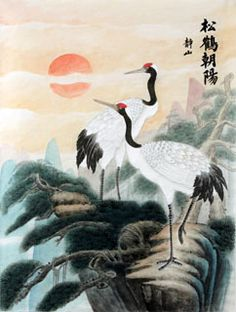 'Cranes', Chinese painting