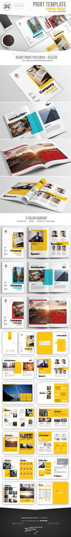 Company Profile Company profile, Brochure template and Brochures - profile company template