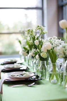 Tulips + Mason Jars