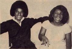 Stephanie Mills and Michael Jackson (R-L)