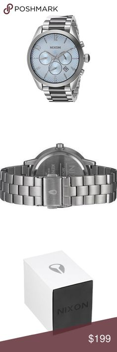 Nixon A366-2363 Women's Two Tone Steel Bracelet This ladies Nixon The Bullet Chrono watch is made from stainless steel and is fitted with a chronograph quartz movement. It is fitted with a metal bracelet and has a blue dial. The watch has a date function. NIXON Accessories Watches