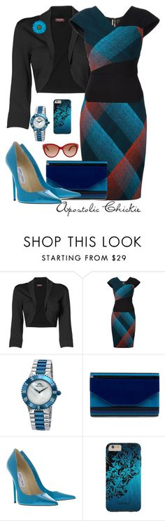 """Crissing And Crossing"" by apostolicchickie ❤ liked on Polyvore featuring Phase Eight, Roland Mouret, Porsamo Bleu, Jimmy Choo and Chloé"