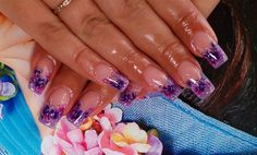 one stroke painting by Iryna from Nail Art Gallery