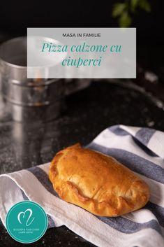 Pizza calzone, reteta rapida de pizza cu ciuperci. Pizza calzone cu legume! Calzone, Hamburger, Pizza, Bread, Food, Savory Snacks, Snacks, Appetizers, Eten