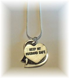 Keep My Husband Safe - I think we all need this charm!