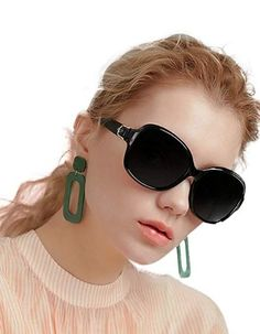 536e01df448 EFE Oversized Polarized Sunglasses for Women Composite Frame  amp  Case.   sunglass  eyewear