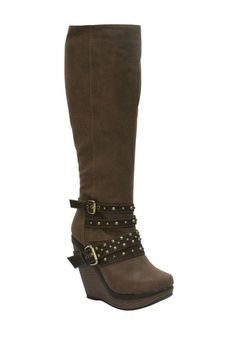41d4c1bb80634 EXTREME by Eddie Marc Lexi Tall Wedge Boot by Boot Bazaar on  HauteLook