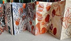 sophie munns : concertina book - seed capsules from rainforest fruits of Australia